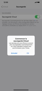 Apple iPhone XR - Données - créer une sauvegarde avec votre compte - Étape 11
