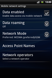 Sony Ericsson Xperia Mini Pro - Network - Usage across the border - Step 6