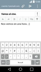 LG Leon - E-mail - Escribir y enviar un correo electrónico - Paso 10