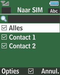 Samsung E1270 - Contacten en data - Contacten kopiëren van toestel naar SIM - Stap 7