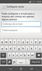 Sony Xperia E1 - Email - Configurar a conta de Email -  6