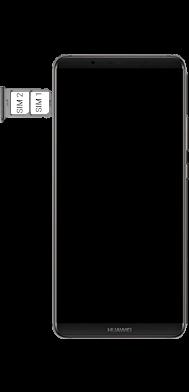 Huawei Mate 10 Pro - Premiers pas - Insérer la carte SIM - Étape 6