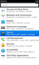 BlackBerry 9860 Torch - Settings - Configuration message received - Step 4