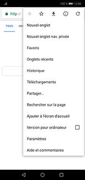 Huawei P20 lite - Internet et connexion - Naviguer sur internet - Étape 8