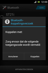 Sony ST21i Xperia Tipo - Bluetooth - Koppelen met ander apparaat - Stap 7
