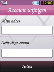 Samsung S7070 Diva - E-mail - Handmatig instellen - Stap 13