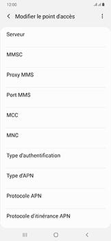 Samsung Galaxy A50 - Internet - configuration manuelle - Étape 14