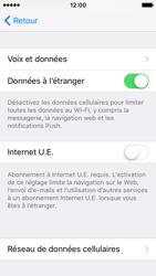 Apple iPhone SE - Aller plus loin - Désactiver les données à l'étranger - Étape 5