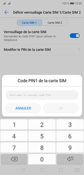 Huawei P20 - Sécuriser votre mobile - Personnaliser le code PIN de votre carte SIM - Étape 12