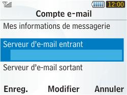 Samsung S3350 Chat 335 - E-mail - Configuration manuelle - Étape 15