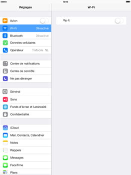 Apple iPad 4th generation iOS 7 - Wifi - configuration manuelle - Étape 3