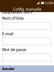 Nokia 8110 Banana - E-mail - Configuration manuelle - Étape 11