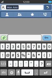 Samsung Wave M - Contact, Appels, SMS/MMS - Envoyer un SMS - Étape 8