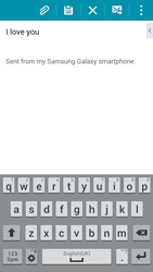 Samsung Galaxy Alpha - Email - Sending an email message - Step 17
