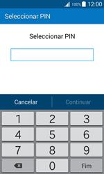 Samsung Galaxy J1 - Segurança - Como ativar o código de bloqueio do ecrã -  7