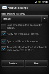 Sony C1505 Xperia E - Email - Manual configuration - Step 16