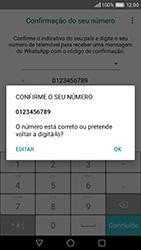Huawei P9 - Aplicações - Como configurar o WhatsApp -  8