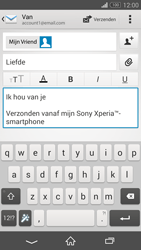 Sony D5803 Xperia Z3 Compact - E-mail - E-mails verzenden - Stap 10