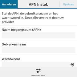 BlackBerry Classic - Internet - Handmatig instellen - Stap 8