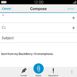 BlackBerry Classic - Email - Sending an email message - Step 7