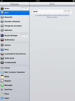 Apple iPad mini - Wifi - configuration manuelle - Étape 2