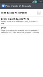 LG Optimus F6 - Internet et connexion - Partager votre connexion en Wi-Fi - Étape 9