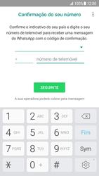 Samsung Galaxy S7 - Android Nougat - Aplicações - Como configurar o WhatsApp -  9
