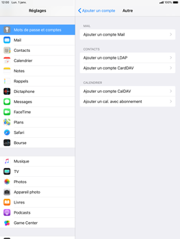 Apple iPad Mini 3 - iOS 12 - E-mail - Configuration manuelle - Étape 7