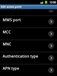 Samsung S5360 Galaxy Y - MMS - Manual configuration - Step 10