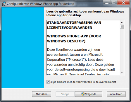 Microsoft Lumia 650 - Software - Download en installeer PC synchronisatie software - Stap 3