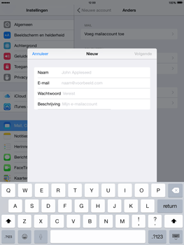 Apple iPad Mini 2 iOS 8 - E-mail - e-mail instellen: IMAP (aanbevolen) - Stap 7