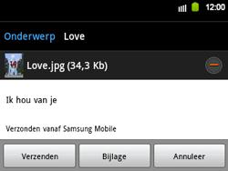 Samsung B5510 Galaxy TXT - E-mail - e-mail versturen - Stap 12