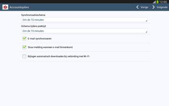 Samsung P5220 Galaxy Tab 3 10-1 LTE - E-mail - e-mail instellen: IMAP (aanbevolen) - Stap 17