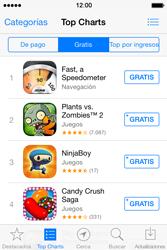 Apple iPhone 4S iOS 7 - Aplicaciones - Tienda de aplicaciones - Paso 5
