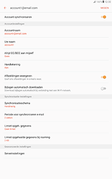 Samsung Galaxy Tab A 10.1 (SM-T585) - E-mail - Instellingen KPNMail controleren - Stap 25