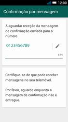 Alcatel POP C7 - Aplicações - Como configurar o WhatsApp -  8