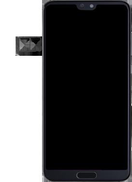 Huawei P20 pro - Premiers pas - Insérer la carte SIM - Étape 3