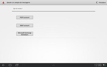 Samsung P7500 Galaxy Tab 10-1 - E-mail - Configuration manuelle - Étape 6