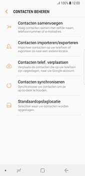 Samsung Galaxy S8 - Android Oreo (SM-G950F) - Contacten en data - Contacten kopiëren van toestel naar SIM - Stap 6