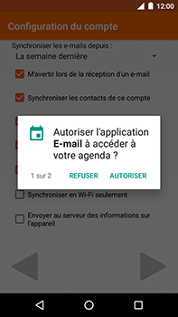 Motorola Moto E4 Plus - E-mails - Ajouter ou modifier votre compte Outlook - Étape 11