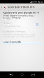 Sony Xpéria E3 - Internet et connexion - Partager votre connexion en Wi-Fi - Étape 11