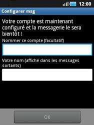 Samsung S5570 Galaxy Mini - E-mail - Configuration manuelle - Étape 12