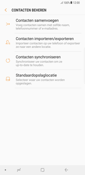 Samsung Galaxy S8+ - Android Oreo (SM-G955F) - Contacten en data - Contacten kopiëren van SIM naar toestel - Stap 7
