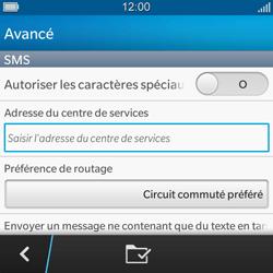 BlackBerry Q5 - SMS - configuration manuelle - Étape 8