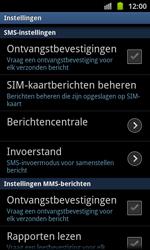 Samsung I8530 Galaxy Beam - SMS - Handmatig instellen - Stap 4