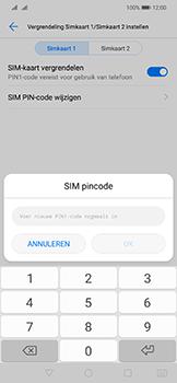 Huawei mate-20-lite-dual-sim-model-sne-lx1 - Beveiliging en ouderlijk toezicht - Hoe wijzig ik mijn SIM PIN-code - Stap 12