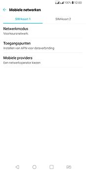 LG Q7 - Netwerk selecteren - Handmatig een netwerk selecteren - Stap 5