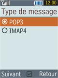 Samsung B2100 Xplorer - E-mail - Configuration manuelle - Étape 12