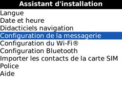 BlackBerry 8520 - E-mails - Ajouter ou modifier un compte e-mail - Étape 5
