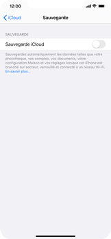 Apple iPhone XS Max - iOS 13 - Données - créer une sauvegarde avec votre compte - Étape 10